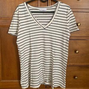 Anthropologie Lacausa Striped T-Shirt